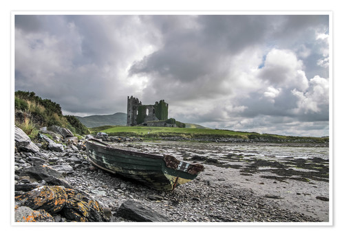 Premium-Poster Ballycarbery Castle, County Kerry (Irland)