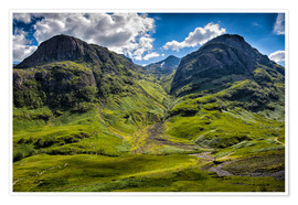 Premium-Poster The Three Sisters, Schottland