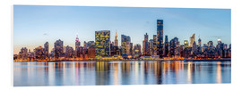 Hartschaumbild  New York Midtown Manhattan Skyline - Sascha Kilmer