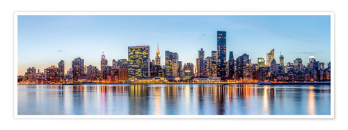 Premium-Poster New York Midtown Manhattan Skyline