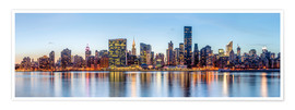 Premium-Poster  New York Midtown Manhattan Skyline - Sascha Kilmer