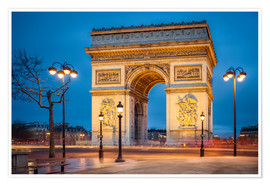 Premium-Poster Arc de Triomphe in Paris