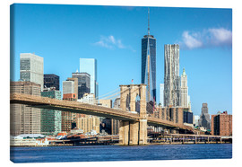 Leinwandbild  New York: Brooklyn Bridge und World Trade Center - Sascha Kilmer