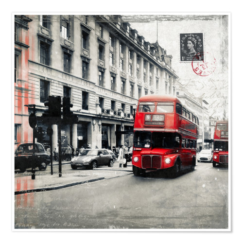 Premium-Poster Postcard From London | 03