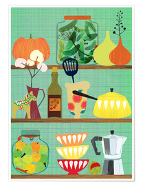 Premium-Poster kitchen shelf 02