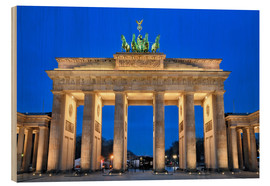Holzbild  Berlin Brandenburger Tor - FineArt Panorama