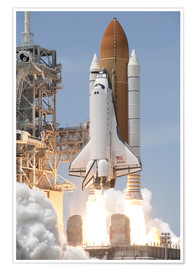 Premium-Poster Space Shuttle Atlantis