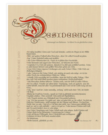 Poster Desiderata - Version Deutsch 1