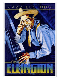 Premium-Poster  Duke Ellington - Roger Pearce