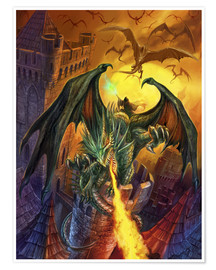 Premium-Poster  Veldspars Angriff - Dragon Chronicles