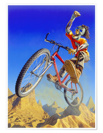 Premium-Poster  Mountain bike - Extreme Zombies