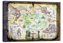 Leinwandbild  Karte der Drachen - Dragon Chronicles