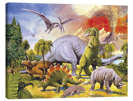 Leinwandbild  Land of the dinosaurs - Paul Simmons
