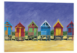 Hartschaumbild  Beach huts - Brian James