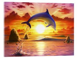 Acrylglasbild  Day of the dolphin - sunset - Robin Koni