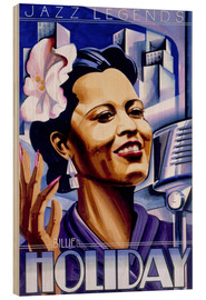Holzbild  Billie Holiday - Roger Pearce