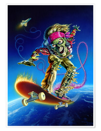 Premium-Poster  Skateboarder - Extreme Zombies