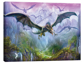 Leinwandbild  Die Berge der Drachen - Dragon Chronicles