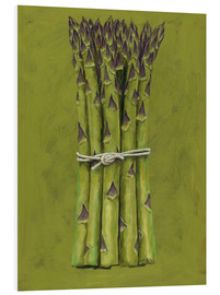 Hartschaumbild  Asparagus bunch - Brian James