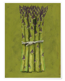 Premium-Poster  Asparagus bunch - Brian James