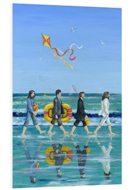 Hartschaumbild  Abbey Road Beach - Peter Adderley