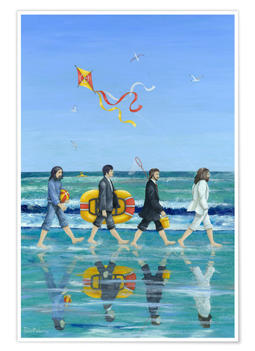 Premium-Poster Abbey Road Beach