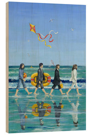 Holzbild  Abbey Road Beach - Peter Adderley