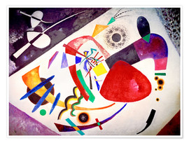Premium-Poster  Roter Fleck II - Wassily Kandinsky