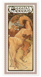 Premium-Poster  Chocolat Mexicain - Herbst - Alfons Mucha
