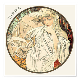 Poster  Les Mois - März - Alfons Mucha