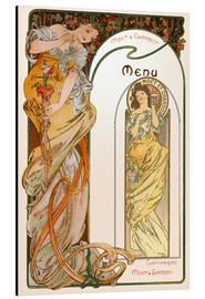 Alubild  Moet & Chandon Menu orange - Alfons Mucha