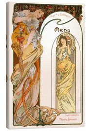 Leinwandbild  Moet & Chandon Menu orange - Alfons Mucha