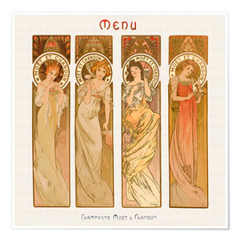 Premium-Poster  Champagne Moet & Chandon - Alfons Mucha