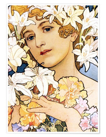 Poster  Blume, Detail I - Alfons Mucha