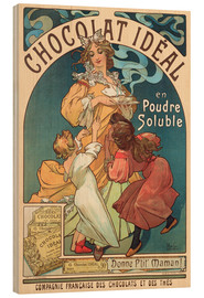 Obraz na drewnie  Chocolat Ideal - Alfons Mucha