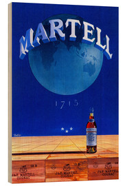 Holzbild  Martell Cognac - Advertising Collection