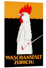 Hartschaumbild  Waschanstalt Zürich - Advertising Collection