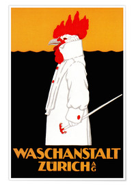 Premium-Poster  Waschanstalt Zürich - Advertising Collection