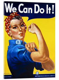Acrylglasbild  We Can Do It! - Advertising Collection
