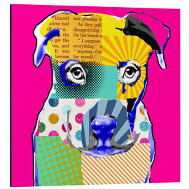 Alubild  Pop Art Bulldogge - GreenNest
