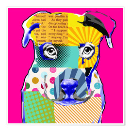 Premium-Poster Pop Art Bulldogge