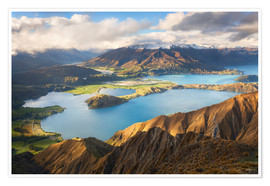 Premium-Poster Wanaka Mountains