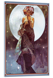 Acrylglasbild  Der Vollmond, Adaption - Alfons Mucha