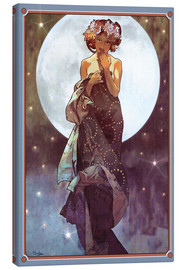 Leinwandbild  Der Vollmond, Adaption - Alfons Mucha