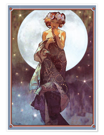 Premium-Poster  Der Vollmond, Adaption - Alfons Mucha