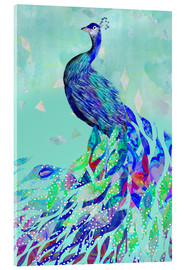 Acrylglasbild  Pfau Collage - GreenNest