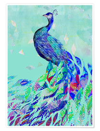 Premium-Poster  Pfau Collage - GreenNest