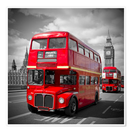 Premium-Poster LONDON Rote Busse