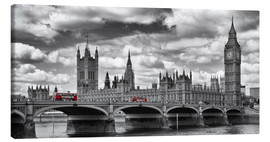 Leinwandbild  LONDON Westminster Bridge Panorama - Melanie Viola