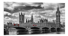 Hartschaumbild  LONDON Westminster Bridge Panorama - Melanie Viola